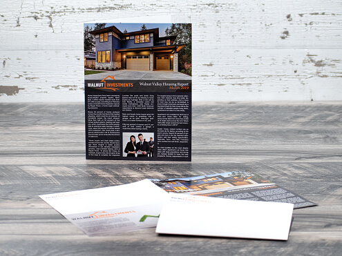 Right Angle Half Fold Brochure